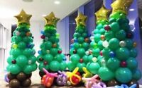 árbol de Navidad Papá Noel Globo metalizado Feliz Decoración Fiesta