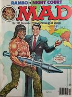 MAD Dec 1985 Vtg Parody Magazine No. 259 Ronald Reagan Rambo Stallone NoML GD