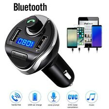 Wireless In-Car Bluetooth FM Transmitter MP3 Radio Adapter Car Fast Charger
