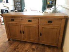 Solid Wood Sideboard Oak 3 Drawers, 3 Doors. Excellent Condition.