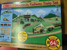 Melissa & Doug Mountain Tunnel Train Set NEW open box and shipping labels remove