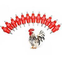 10Pcs Poultry Water Drinking Mini Duck Chicken Hen Feeding Screw In Drinker NEW
