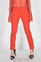 MOSCHINO JEANS Pantaloni Rosso Eleganti TG IT 41 W 27 Donna Woman