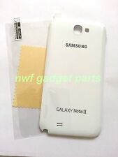 New OEM Samsung Galaxy Note 2 II L900 Battery Back Cover Sprint ~(WHITE) + S/P
