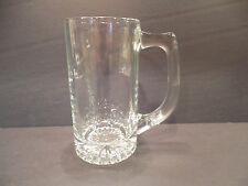New listing Clear Beer Mug Tankard Sunburst Starburst Bottom Drinking Glass Vintage