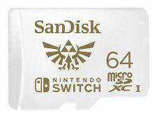 SanDisk Nintendo Switch Licensed Memory 64GB Class 3 MicroSDXC Scheda di Memoria (SDSQXBO-064G-ANCZA)
