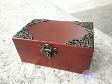 """Moon River"" Melody Wooden Sankyo Vintage Music Box With an Antiqued Lock"