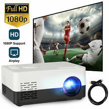 Mini LED Smart Projector HD 1080P Home Theater Video Movie Game HDMI USB AV