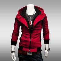 Men's Long Sleeve Slim Hoodie Sweatshirt Pullover Hoody Hooded Coat Outwear Tops