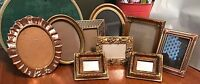 Ornate Gesso Gilt Picture Frame Lot Gold Vintage Style Wedding Roses Romantic 9