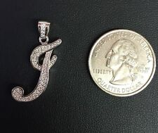 """NEW!! 925 Sterling Silver CZ Letter Initial """"J"""" Pendant Necklace"""