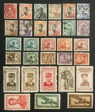 Indo China Collection Of Old Stamps