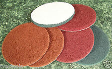 """6pc 5"""" inch Hook and Loop SURFACE CONDITIONING SANDING / CLEANING DISCS Big NEW"""