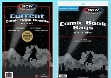 25 BCW CURRENT COMIC BOOK BAGS & BACKING BOARDS Clear Archival Acid Free Modern