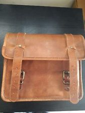 Side Pouch Motorcycle Side Brown Leather Pouch Saddlebags Saddle Bag Panniers