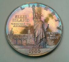 1986-S  Statue of Liberty Proof Silver Dollar Coin with beautiful toning,toned