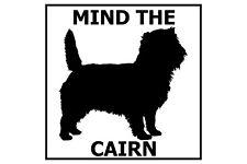 Mind the Cairn Terrier - Gate/Door Ceramic Tile Sign