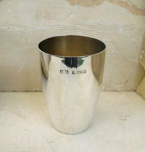 Silberbecher Taufbecher Becher 925 Sterling Silber * Birmingham England * 1936