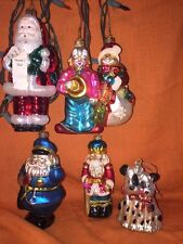 Six Collectible Glass Christmas Ornaments