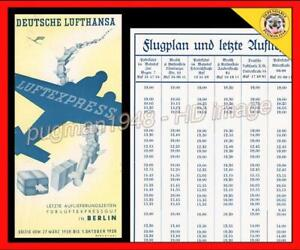 AIRLINE TIMETABLE LUFTHANSA AIRLINES 1938 SCHEDULE...Berlin Cargo