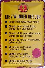 Blechschild Schild 20x30 cm - Wunder der DDR Ostalgie ost Arbeit Planwirtschaft