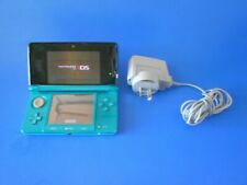 Nintendo 3DS Console Aqua Blue Complete with Charger - x2 8gb SD CARDS INC