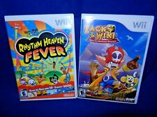 Lot of 2 Wii;Zack & Wiki Quest-Barbaros' Treasure,Compl.,Rhythm Heaven Fever, VG