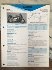 Yamaha YZF750R 4FM 1993 1994 YZF750 R YZF 750 Fiche technique moto RMT ETAI