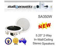 "STUDIO ACOUSTICS SA350W 5.5"" 2-WAY 60W IN-WALL IN-CEILING SPEAKERS PAIR 5-1/2"""