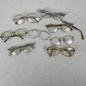 Lot of vintage eye glasses cats eye glasses varying conditions