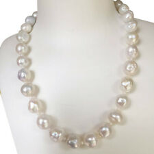 Elegant 12-13.5mm Kasumi Baroque Pearl Nature White necklace 46cm High Luster