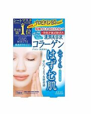 Kose Clear Turn white Face Mask (collagen) 5 Sheets Skin Care made in Japan