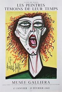 """""""The Artist's Wife"""" by Bernard Buffet Original Lithograph Poster 30""""x20 1/2"""""""