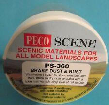Peco weathering powder Brake Dust & Rust PS-360