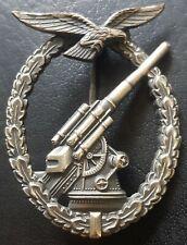 ✚8719✚ German Luftwaffe Flak Gunner Anti Aircraft Badge post WW2 1957 pattern