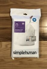 Simple Humann Code X Extra Large 80 L 21 Gallon 60 Count Ultra Strong Trash Bag