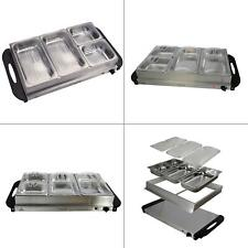 Buffet Server Food Warmer With 4 Removable Sectional Trays ,