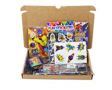 Superhero Personalised Goody Box Boys Birthday Gift Christmas Super Hero 6 Items