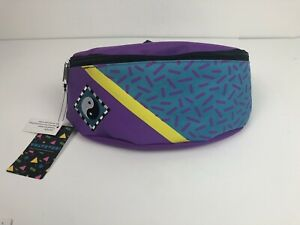 Retro Fanny Pack - Yin and Yang Symbol - Adjustable Strap - Purple by Funko NEW