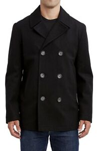 Nautica Mens Peacoat Black US Size 3XL Double-Breasted Water Resistant $248 063