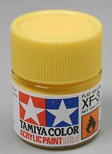 Tamiya Mini Acrylic Flat Yellow XF-3 Paint 1/3 oz