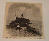 1880 magazine engraving ~ BALD KNOB & ONLY LAKE IN Virginia