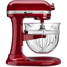 Kitchenaid Design Pro 600 Stand Mixer kf26m22ca 6-Qt Glass Bowl Candy Apple Red