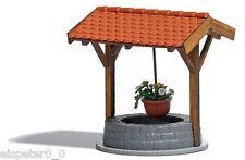 Busch 1524, Brunnen mit Blumenampel, H0 Modellwelten Bausatz 1:87, Neuheit 2013
