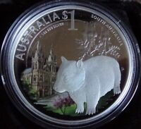 2010 Celebrate Australia WOMBAT South Australia 1oz .999 Silver Coin