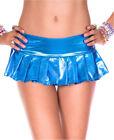 Metallic Pleated Mini Skirt - Music Legs 153