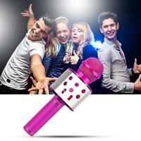 Wireless Bluetooth Microphone USB Handheld KTV Player Speaker MIC Karaoke N4C3