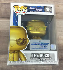 Funko Pop! Wwe 46 The Rock Vinyl Figure SmackDown Live 20th Anniversary, Gold K4