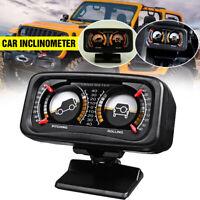 12V Car Two-barreled Backlight Inclinometer Angle Tilt Slope Meter Level Gauge
