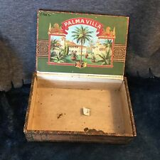 Antique Palma Villa Cigar Box & Label -